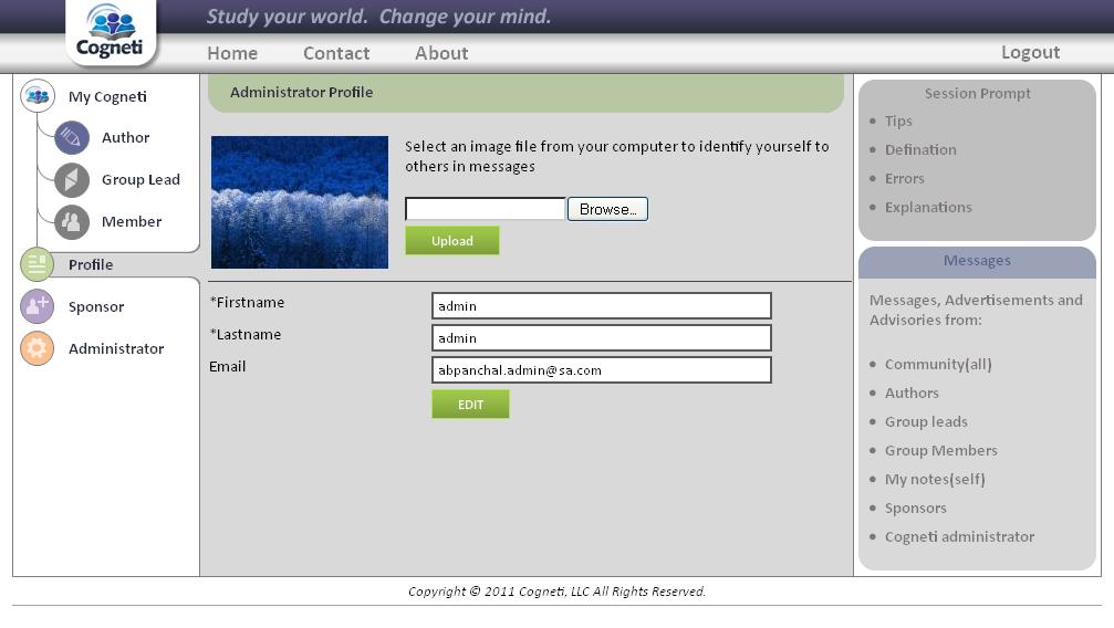 User Profile Page